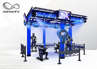 中国 220V 9D Virtual Reality Walking Platform Multiplayer Interactive VR Shooting Games 工場