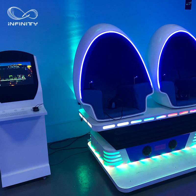 3 Seats 9D VR Simulator 360 Egg Cinema VR Chair Arcade Game Machine