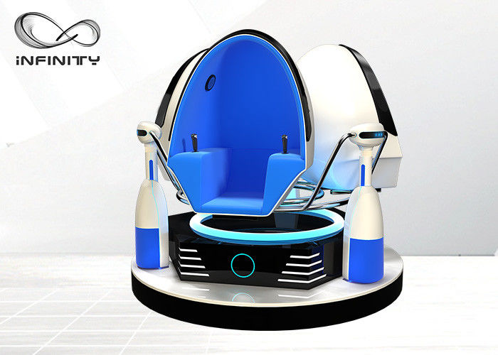 7D Hologram Technology 9D VR Cinema / Virtual Reality Egg Chair