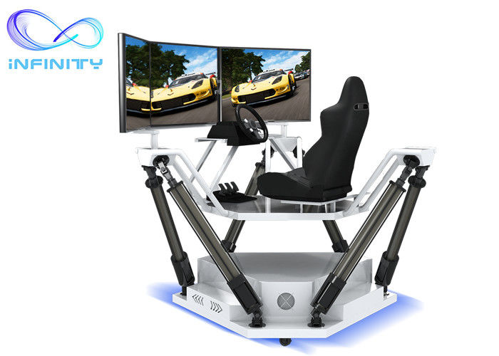 Customized  Entertainment Three Screen Racing Car Simulator